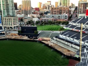 Petco Fence Construction as of 1/2/13 - Photo provided via twitter by Tom Garfinkel