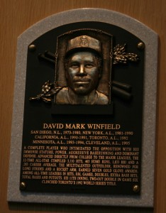 Dave Winfield HOF Plaque - Photo by  ewen and donabel