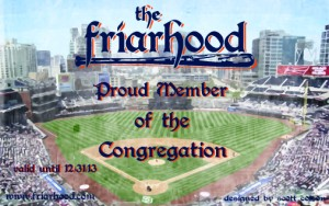 2013 Friarhood Membership Card designed by: Scott Colson